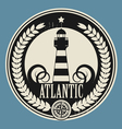 Lighthouse label vector image vector image