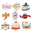 logo happy halloween vector image vector image