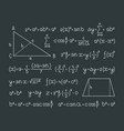 math formula scientific symbols mathematics vector image