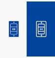 mobile sun temperature line and glyph solid icon vector image