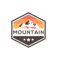 mountain estate badge logo design vector image vector image