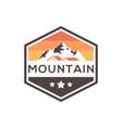 mountain estate badge logo design vector image vector image