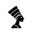 nefertity - egypt icon black vector image