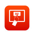 online shopping icon digital red vector image vector image