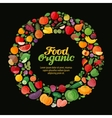 organic food collection fresh fruits and vector image vector image