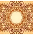 Ornate ethnic circle frame vector image