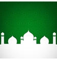paper mosque on green vector image