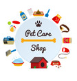 pet care supply accessories and products vector image vector image