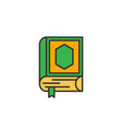 quran the holy book of islam simple monoline icon vector image