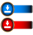 Red and dark blue icons vector image