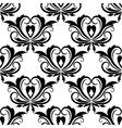 Retro seamless pattern with flourishes vector image vector image