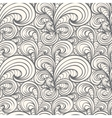 seamless curl pattern vector image vector image