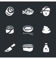 set sushi vector image