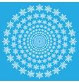 Snowflake spiral wallpaper vector image vector image