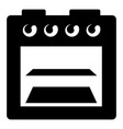 stove gas icon simple style vector image