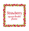 Strawberry square border frame