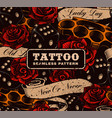 tattoo seamless background vector image vector image
