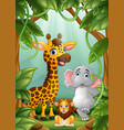 the animals are in the jungle vector image