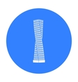 The Shanghai Tower icon in black style isolated on vector image