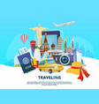 travel background of different world vector image vector image