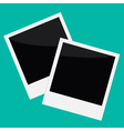 Two Instant photos in flat design style vector image