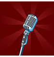 vintage microphone vector image vector image