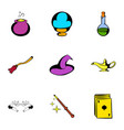 voodoo icons set cartoon style vector image vector image