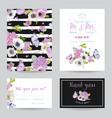 wedding invitation template set botanical card