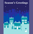 winter graphic with houses vector image