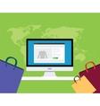 online e-commerce concept vector image