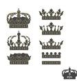 Grey crowns set vector image