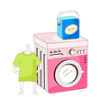 A view of washing machine vector image