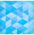 Abstract grunge blue triangles background vector image vector image