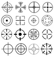 Aim target icons set vector image vector image
