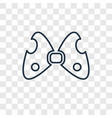 big bow concept linear icon isolated on vector image