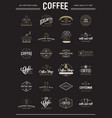 big set coffee elements and coffee accessories vector image vector image