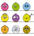 birds icons vector image vector image