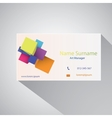 Calling card of art manager vector image vector image
