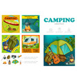 cartoon summer camping infographic template vector image vector image