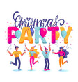 christmas party happy people celebrating christmas vector image