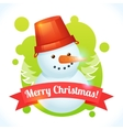 Christmas snowman card vector image vector image