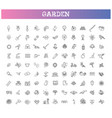 collection gardening line icons vector image vector image