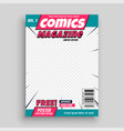 comic magazine cover page template vector image