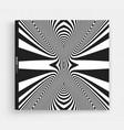 cover design template black white design striped vector image vector image