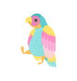 cute tropical parrot with iridescent plumage vector image