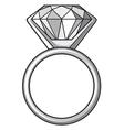 Diamond ring - ring with diamond vector image