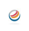 e internet technology circle logo vector image vector image