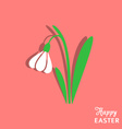 Easter card with snowdrop vector image