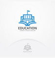 education building logo vector image