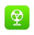fan icon digital green vector image vector image